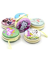 Infinxt Zip Round Coin, Earphone & Multipurpose Pouch Bag Birthday Return Gift for Girls ( Set of 6 )