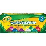 Crayola - 10 botes de pintura lavable (54-1205)