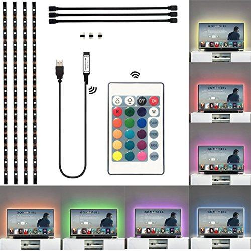 Power You TV Hintergrundbeleuchtung 5V 5050 RGB USB Powered LED Streifen Licht Bias Light mit 24 Tasten Fernbedienung