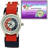 Relda Time Teacher Red & Navy Velcro Strap Boys Girls Childrens Watch REL07