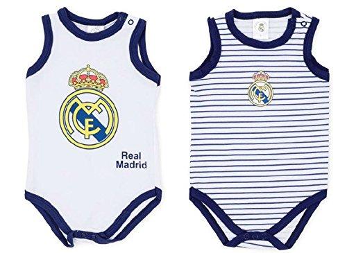 ck 2 Bodys REAL MADRID para Bebé Tirantes (18 MESES)