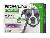 Frontline | Combo Spot On Cani | Protezione da pulci, zecche, uova e larve di pulci | 3 Pipette | Cane L (20 - 40 Kg)