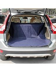 SAN QIAN WAN- Perro gato impermeable coche protector de la espalda con PVC antideslizante azul patrón comprobado 147 * 120 cm de alta protección traje para coches y SUV Alfombra para mascotas