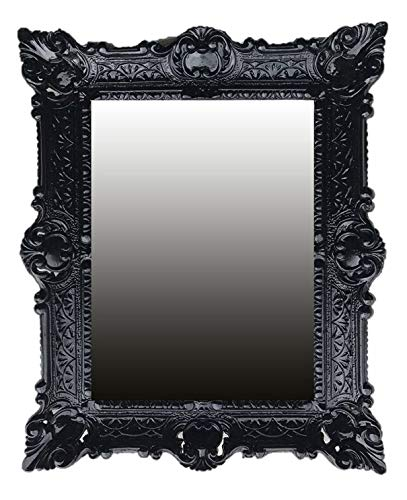 Lnxp specchio da parete barocco in nero renaissance opulenter prachtvollet nostalgie anticato barocco repro stile barocco