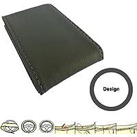 SC102G - Pelle Coprivolanti Car Steering Wheel Cover protettore della rotella guanto GRIGIO con ago e filo - Impugnatura Di Sterzo Copertura