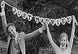 Aimeart EINFACH VERHEIRATET Hochzeit Banner Hochzeit Fotostand Stuetze Hochzeit Girlande