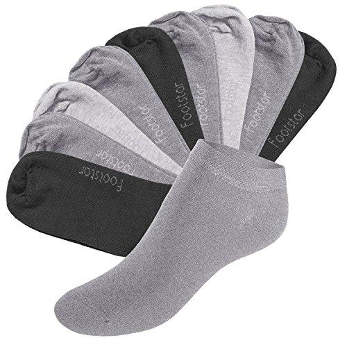 10 Paar SNEAK IT! Unisex Sneaker - Classic Grey - 39-42