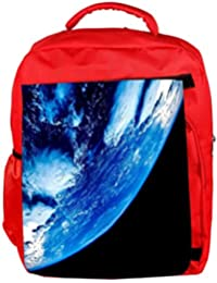 724eac4157e3 Snoogg Eco Friendly Canvas Side View of Earth Designer Backpack Rucksack  School Travel Unisex Casual Canvas