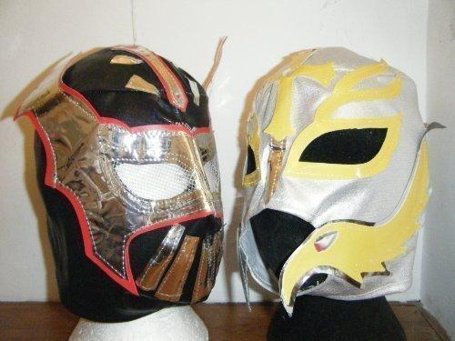 schwarz SIN CARA Hunico und Rey Mysterio Kostüm (Sin Erwachsene Cara Für Kostüm)