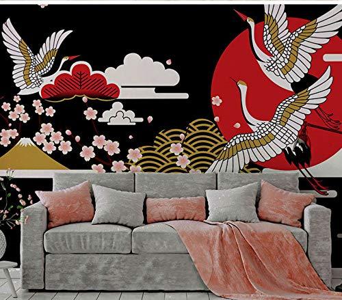 BZDHWWH Japanischen Stil Mandschurenkranz Sakura Blume Tapete Wandbild Für Zimmer 3D Wandbild Fototapete 3D Wandbild Für Weihnachten
