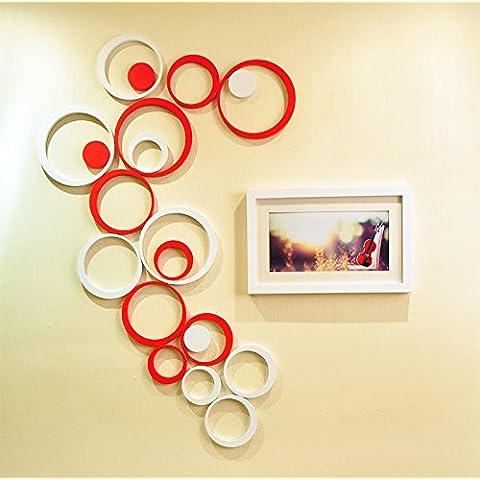 MALUZI Regali di natale elegante 3-dimensionale di ciambella home decor parete bella 5-Pack , selezionare nero