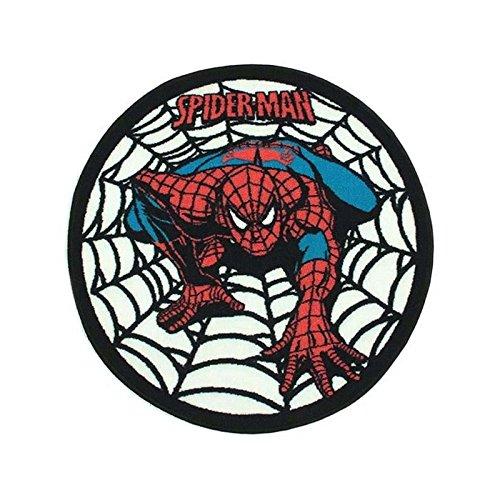Tappeto disney spiderman tela ragno, 80 x 80 cm, per bambini, motivo: bambini, monbeautapis