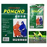 Poncho Adult Raincoat Hooded Unisex Water Resistant Rain Cover Cycling Camping