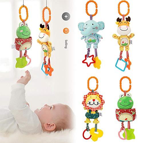 Chen0-super Kinderwagen Kinderwagen Kinderwagen Baby Hängen Spielzeug, Weiche Rasseln Baby Spielzeug für 3 6 9 12 Monate Jungen und Mädchen, 4 STÜCKE - 11 Stück, Super Betten