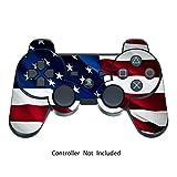 Sony PS3 Controller Sticker - Aufkleber Schutzfolie Skin für Playstation DualShock 3 Wireless Controller - Stars N Stripes