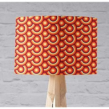 Orange Lampenschirm mit einem Retro- geometrischen Kreismuster
