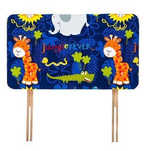 Ready Steady Bed® Jungle Fever Tiere Design Kinder Kopfteil für Einzelbett 3Ft Bett Größe Schaumstoff gepolstert