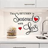 Mznm Diese Küche Est Assaisonnée mit Wandstickern, Küche, Wohnzimmer, Kunst, Diy, Schwarz