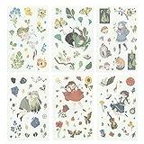 Hosaire - 6 cartoncini autoadesivi, Motivo Kawaii, Ragazza di sogna, Adesivi, per Decorazione Fai da Te, Calendario, Album, Scrapbooking, diario, Regalo Ideale per Bambini