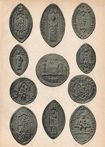 irish-eccelesiastical-seals-14-16c-elphin-clones-ferns-limerick-kilfenora-1907-old-antique-vintage-p