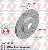 ZIMMERMANN 100.3330.52 Bremsscheibe Scheibenbremsen, Bremsscheiben (x2)
