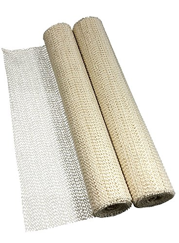 versandfuxx24 2X Anti-Rutschmatte Creme-Weiss 30 x 150 cm, zuschneidbar für Camping, Auto, Boot, Teppich