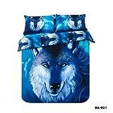 LifeisPerfect (3-7 Piezas) 100% algodón orgánico 3D Wolf Imprimir sábanas Ropa de Cama del...
