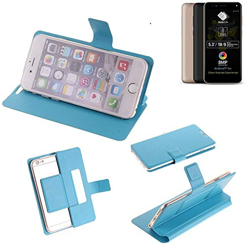 K-S-Trade Flipcover für Allview A9 Plus Schutz Hülle Schutzhülle Flip Cover Handy case Smartphone Handyhülle blau