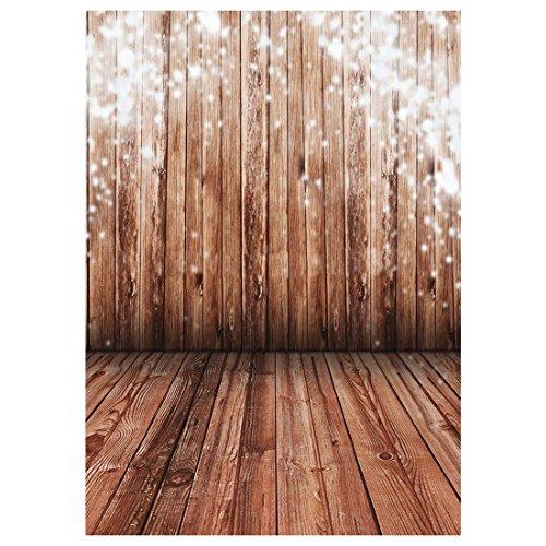 Parkettboden Backdrops - SODIAL(R)1.5X2.1M Wood Floor Studio Hintergruende Fotografie Fotogalerie Hintergrund Hellbraun