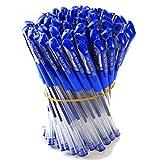 Bolígrafo Gel Pluma de Papelería Suministros Escuela Oficina Bolígrafos de Tinta Gel 0.5mm Azul (10 piezas)