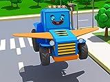 Blauer Traktor
