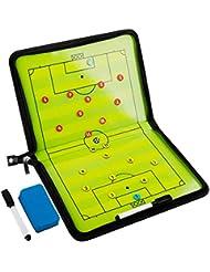 Firlar Carpeta táctica ,Pizarra Táctica de Fútbol Imanes Coach Board para Entrenador con Lápices,