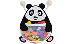 Nooni Care Bath Toy Storage Organiser, Fat Panda Premium Kids Bathroom Toys Mesh Basket, with two Heavy Duty Suction Cups