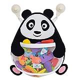 Nooni Care Organizador para Guardar Juguetes de Baño, Cesta de Malla de Gran Calidad para Juguetes de Baño de Niños de Panda Grande, con dos Ventosas de Gran Resistencia.