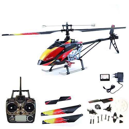 efaso Helikopter WLToys V913 4-Kanal 2,4 GHz Single Blade Gyro Hubschrauber inkl. 6-teiligem Crash-Kit