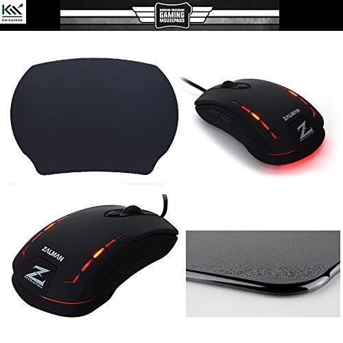 Spar Bundle: KM-Gaming K-GP2 StarDust black Mauspad 320x240mm + Zalman ZM-M401R optical Gaming Mouse (240-fps-video)