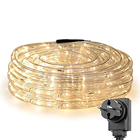 LE 10m LED Lichterschlauch 240 LEDs wasserfest Warmweiß & Mehrfarbig & Kaltweiß für Innen Außen Party Weihnachten Dekolicht (Warmweiß)