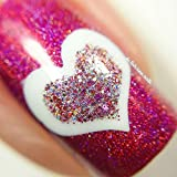 Open Heart Stencils For Nails, Valentines Day Nail Stickers, Nail Art, Nail Vinyls Large (30 Stickers & Stencils)