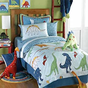 housse de couette simple hoquet dinosaur set 100 coton. Black Bedroom Furniture Sets. Home Design Ideas