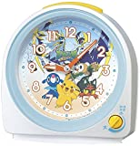 Seiko Horloge Pokémon Soleil Lune Réveil analogique Blanc nacré Cq149W
