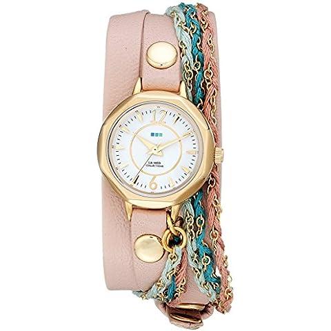 La Mer Collections Mujer lmdel1005Sydney analógico pantalla Cuarzo champán reloj