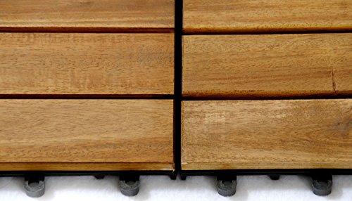 Sam piastrelle in legno d acacia per terrazzo ad incastro