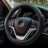 Cubiertas del Volante del Coche Cuero de la PU Cubierta Antideslizante cómoda del Volante del automóvil Ajuste para la mayoría de los carros (Color : A)