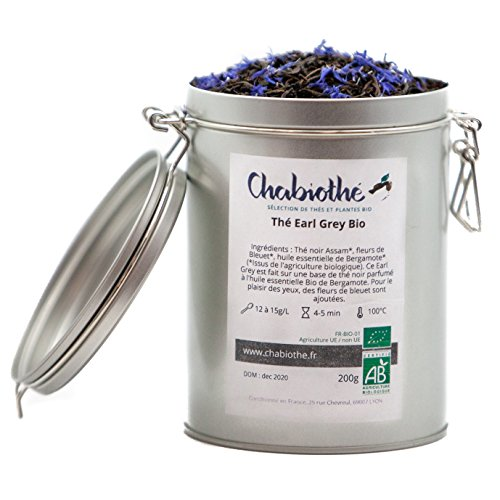 BIO Earl Grey Schwarzer Tee 200g - Metallbox