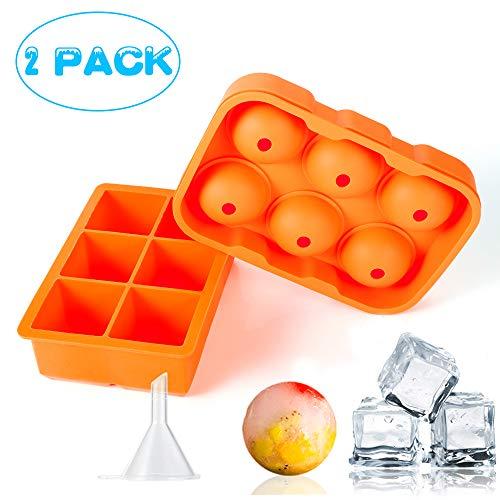 Wanap FT04 Eiswürfelform silikon und Eiskugelform für