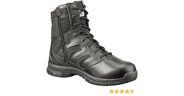 44 EU Original S.W.A.T Noir Force 8 Side-zip en Black Chaussures de travail homme