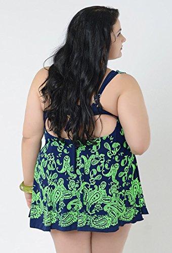 NiSeng damen bikini verstellbare schulterriemen große größen bademode für dicken Emerald