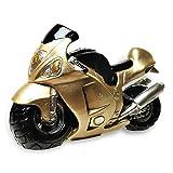 "HC-Handel 923561 Spardose ""Motorrad"" Polyresin gold 19,5 x 13,5 cm"