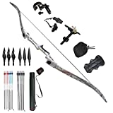 Tongtu Outdoor Tir à l'arc Recurve Bow Chasse Takedown Adulte 30 35 40 45lbs Bow...
