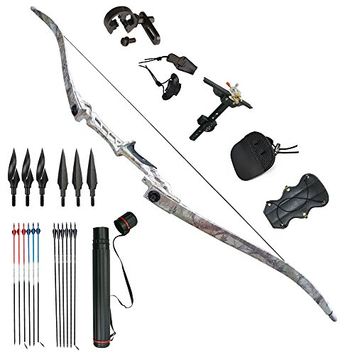 Tongtu Outdoor Tir à l'arc Recurve Bow Chasse Takedown...